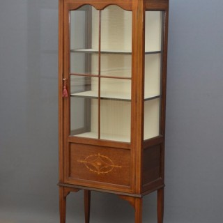 Slim Edwardian Display Cabinet – Vitrine