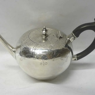 George II Silver Bullet Teapot by David Hennell