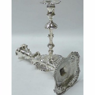George II Silver Candlesticks by William Cafe