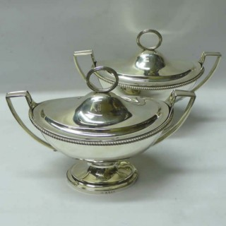 Georgian Silver Sauce Tureens by Paul Storr