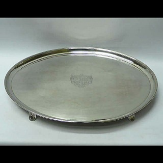 George III Tray in Old Sheffield Plate