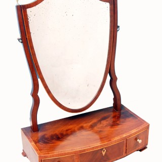 Antique Georgian Dressing Table Mirror
