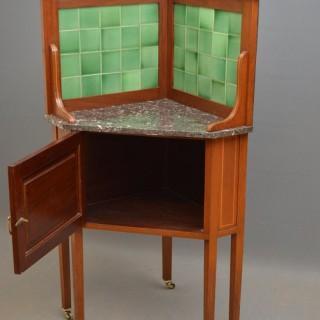 Edwardian Corner Cabinet – Corner Washstand