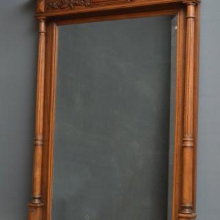 Victorian Oak Wall Mirror