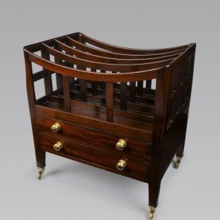 LATE GEORGIAN MAHOGANY CANTERBURY
