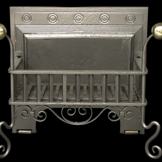 Antique Arts & Crafts Victorian Dog Grate