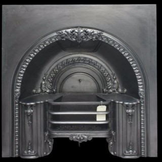 Mid 19th Century Reclaimed Arched Hob Register Grate