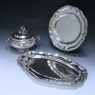 A French Silver six –piece Dinner Service
