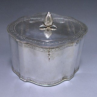 An Antique Silver George III Tea Caddy