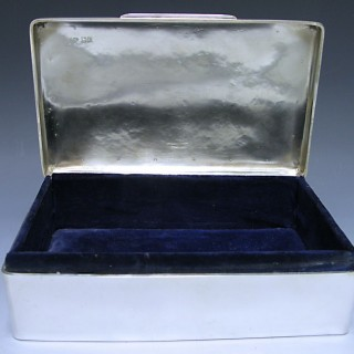 An Edwardian Antique Silver Box