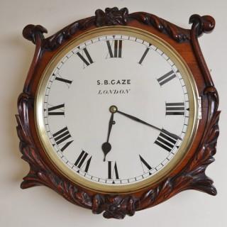 Victorian Wall Clock by S B Gaze London