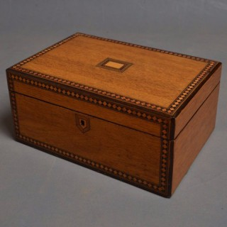 Victorian Oak Work/Jewellery Box
