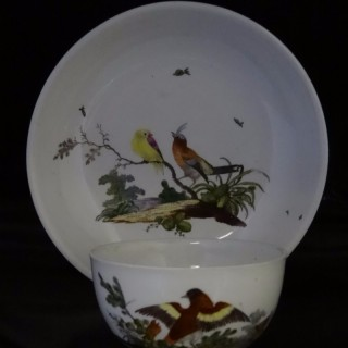 ANSBACH (1710-1860)  Porcelain Cup & Saucer (Germany, 1780)