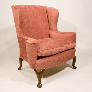 An Early 20th Century George I Style Walnut Wing Chair