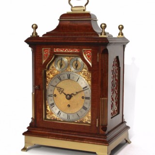 Triple fusee Bell-chiming Victorian Bracket clock