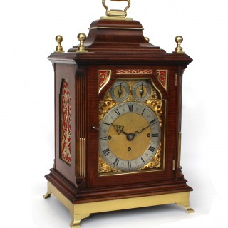 Triple fusee Bell-chiming Victorian Bracket clock