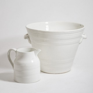 A White Banded Pottery Milk Pail