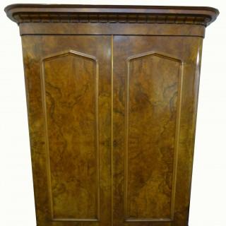 Quality Victorian Burr Walnut Two Door Wardrobe