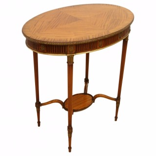 French Style Oval Satinwood Occasional Table