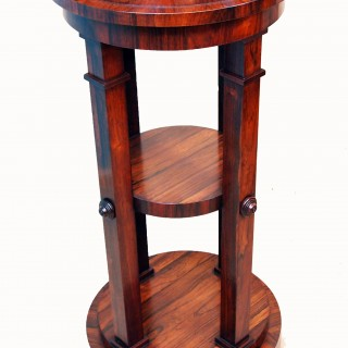 Antique Regency Rosewood Sculpture Stand, Or Pedestal
