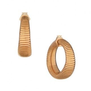 18ct Rose Gold Tubogas Hoop earrings