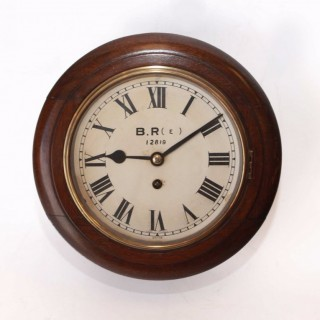 Small fusee Railway Clock with 8-inch Dial