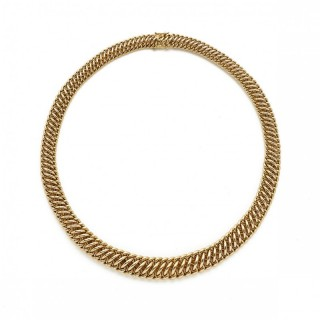 18ct Yellow Gold Graduated Link Necklace