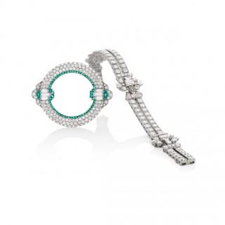 Oscar Heyman Brilliant Cut, Emerald Cut and Tapered Baguette Cut Diamond Bracelet