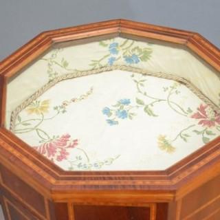 Sheraton Revival Bijouterie Table in Mahogany
