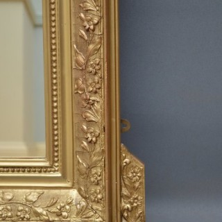 Elegant 19th Century Gilt Mirror
