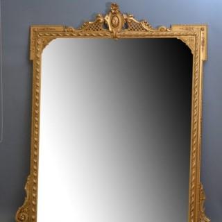 Large 19th Century Gilt Wall Mirror