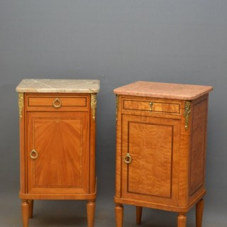 Continental Figured Ash Bedside Cabinet
