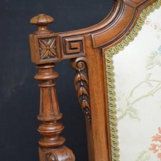 Fine Quality Victorian Sofa – Walnut Settee