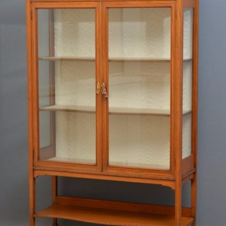 Fine Edwardian Satinwood Display Cabinet