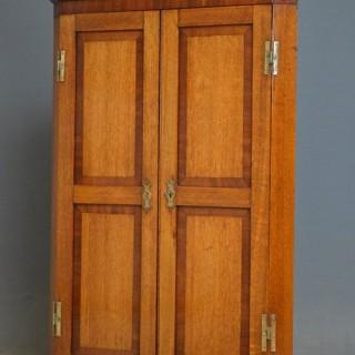 An Attractive Victorian Oak Corner Cupboard