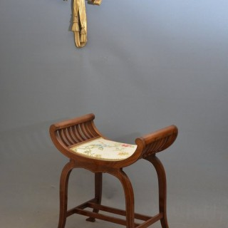 An Attractive Edwardian Mahogany Stool