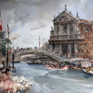 Sir William Russell Flint: Venetian Festival