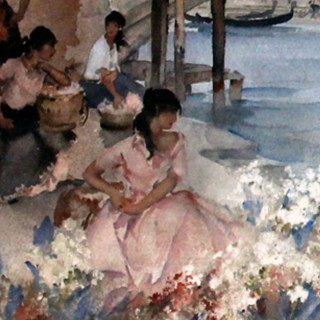 Sir William Russell Flint: Venetian Festival