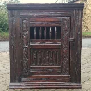 Unusually Fine Antique Hanging Livery Cupboard