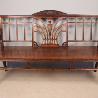 A Fine 19th C. Oak Hall Bench