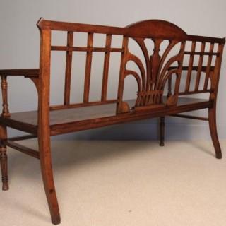 A Fine 19th C. Oak Hall Bench