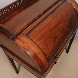 Rare Anglo Chinese Cylinder Writing Table