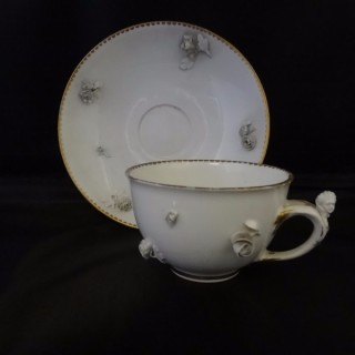Frankenthal Blanc de Chine Cup and Saucer