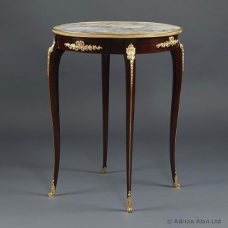 Louis XV Style Gueridon with a Marble Top