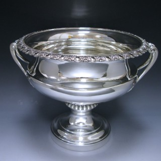 A  large antique Edwardian  sterling silver bowl 1909 Edward Barnard and sons
