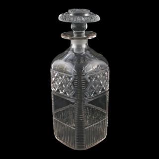 Regency Cut Glass Spirit Decanter