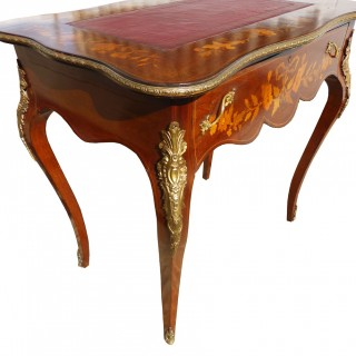 19th Century Marquetry Inlaid Writing Table