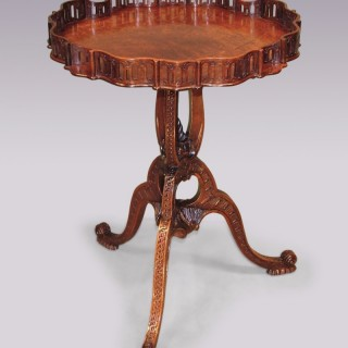 A fine antique Chippendale Revival mahogany Tripod Table