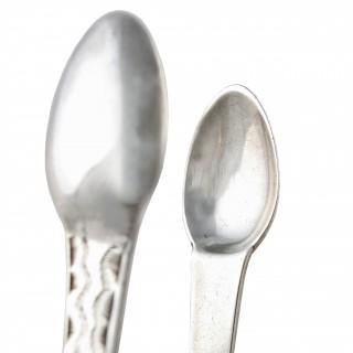 Georgian Sterling Silver Sugar Tongs