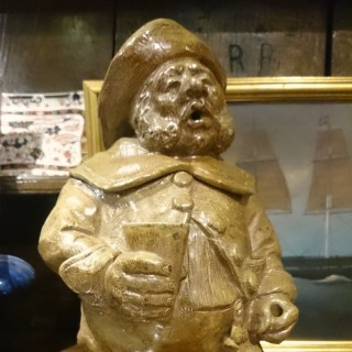 Antique Dutch Drunkard Salt Glazed Figure